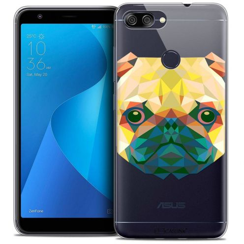 "Coque Crystal Gel Asus Zenfone Max Plus (M1) ZB570TL (5.7"") Extra Fine Polygon Animals - Chien"