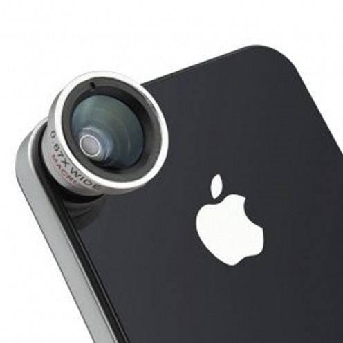 Objetivo Macro + Gran angular Foto / Vídeo iPhone 5/S/C/ iPhone 4 / 4S / 3G