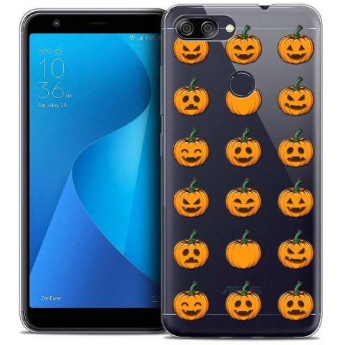 """Carcasa Crystal Gel Extra Fina Asus Zenfone Max Plus (M1) ZB570TL (5.7"""") Halloween Smiley Citrouille"""
