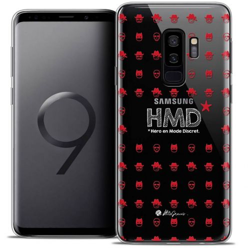 "Coque Gel Samsung Galaxy S9+ (6.2"") Extra Fine Petits Grains® - HMD* Hero en Mode Discret"