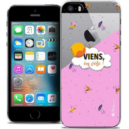 Carcasa Crystal Extra Fina iPhone 5/5s/SE Petits Grains® VIENS, On Vole !