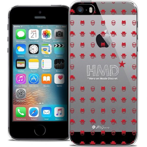 Carcasa Crystal Extra Fina iPhone 5/5s/SE Petits Grains® HMD* Hero en Mode Discret