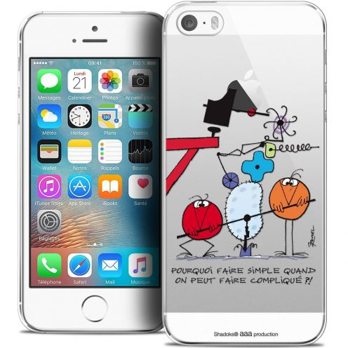 Carcasa Crystal Extra Fina iPhone 5/5s/SE Les Shadoks® Pourquoi faire Simple