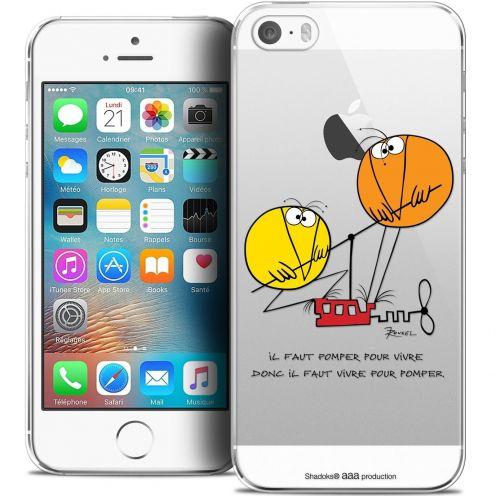 Carcasa Crystal Extra Fina iPhone 5/5s/SE Les Shadoks® Vivre Pour Pomper