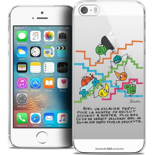 Carcasa Crystal Extra Fina iPhone 5/5s/SE Les Shadoks® L'escalier
