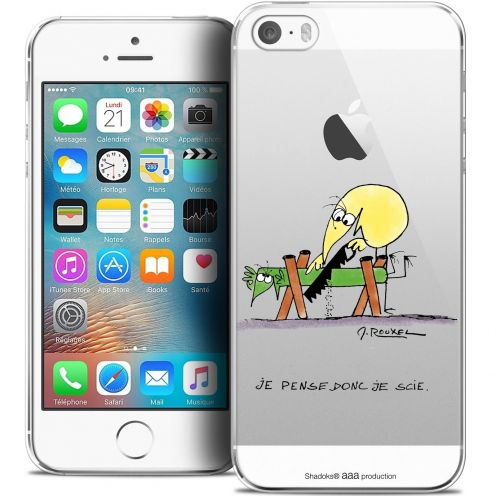 Carcasa Crystal Extra Fina iPhone 5/5s/SE Les Shadoks® Je pense Donc
