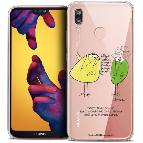 "Coque Gel Huawei P20 LITE (5.84"") Extra Fine Les Shadoks® - Le Dialogue"