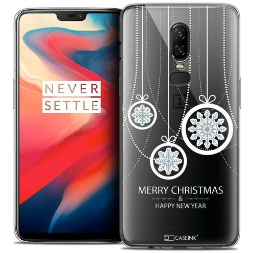 "Coque Crystal Gel OnePlus 6 (6.28"") Extra Fine Noël 2017 - Christmas Balls"
