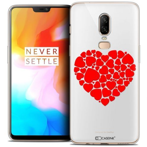 "Coque Crystal Gel OnePlus 6 (6.28"") Extra Fine Love - Coeur des Coeurs"