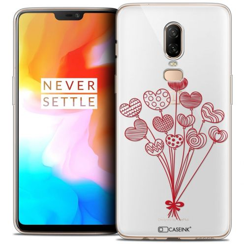 "Coque Crystal Gel OnePlus 6 (6.28"") Extra Fine Love - Ballons d'amour"