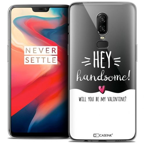 "Coque Crystal Gel OnePlus 6 (6.28"") Extra Fine Love - Hey Handsome !"