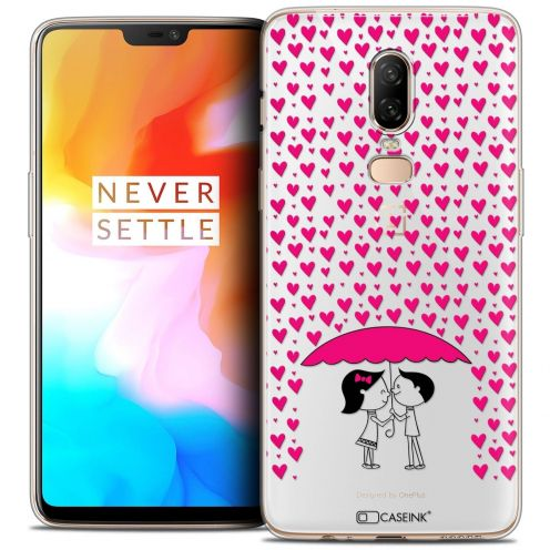 "Coque Crystal Gel OnePlus 6 (6.28"") Extra Fine Love - Pluie d'Amour"