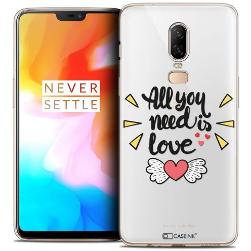 "Coque Crystal Gel OnePlus 6 (6.28"") Extra Fine Love - All U Need Is"