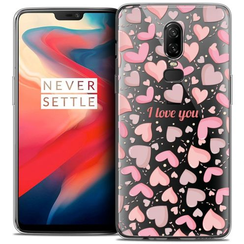 "Coque Crystal Gel OnePlus 6 (6.28"") Extra Fine Love - I Love You"