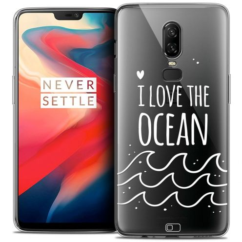 "Coque Crystal Gel OnePlus 6 (6.28"") Extra Fine Summer - I Love Ocean"