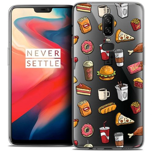 "Coque Crystal Gel OnePlus 6 (6.28"") Extra Fine Foodie - Fast Food"