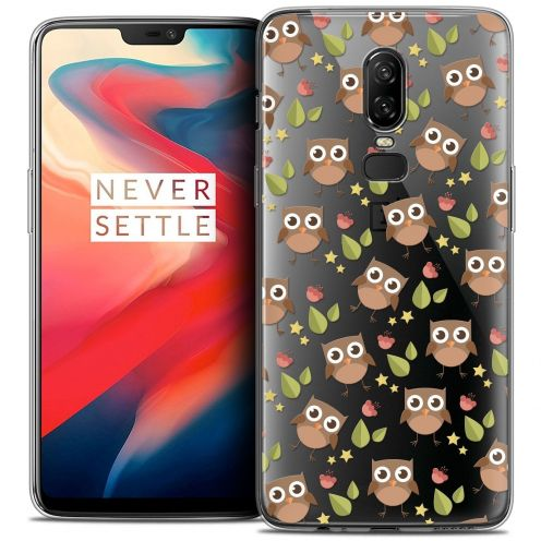 "Coque Crystal Gel OnePlus 6 (6.28"") Extra Fine Summer - Hibou"
