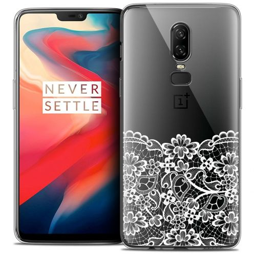 "Coque Crystal Gel OnePlus 6 (6.28"") Extra Fine Spring - Bas dentelle"