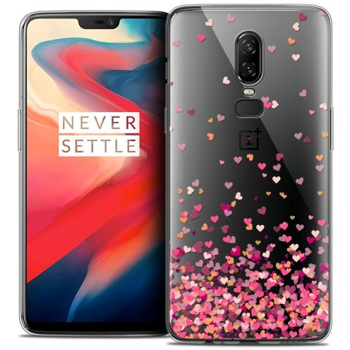 "Coque Crystal Gel OnePlus 6 (6.28"") Extra Fine Sweetie - Heart Flakes"