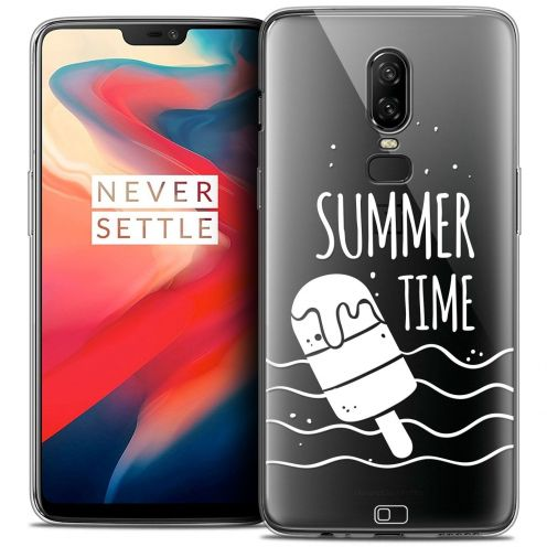 "Coque Crystal Gel OnePlus 6 (6.28"") Extra Fine Summer - Summer Time"