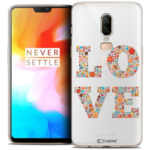 "Coque Crystal Gel OnePlus 6 (6.28"") Extra Fine Summer - Love Flowers"