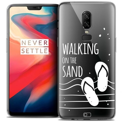 "Coque Crystal Gel OnePlus 6 (6.28"") Extra Fine Summer - Walking on the Sand"