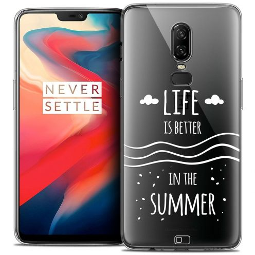 "Coque Crystal Gel OnePlus 6 (6.28"") Extra Fine Summer - Life's Better"