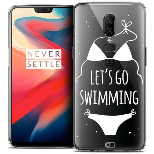 "Coque Crystal Gel OnePlus 6 (6.28"") Extra Fine Summer - Let's Go Swim"