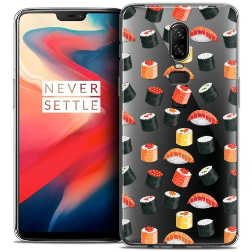 "Coque Crystal Gel OnePlus 6 (6.28"") Extra Fine Foodie - Sushi"