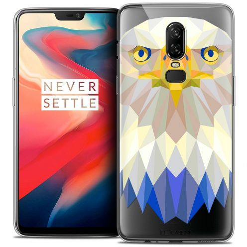 "Coque Crystal Gel OnePlus 6 (6.28"") Extra Fine Polygon Animals - Aigle"