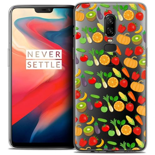 "Coque Crystal Gel OnePlus 6 (6.28"") Extra Fine Foodie - Healthy"