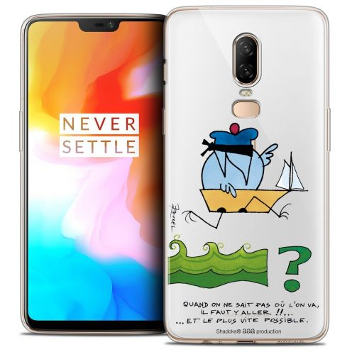 "Coque Gel OnePlus 6 (6.28"") Extra Fine Les Shadoks® - Il Faut Y Aller !!"