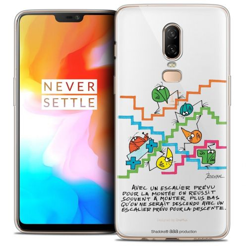 "Coque Gel OnePlus 6 (6.28"") Extra Fine Les Shadoks® - L'escalier"