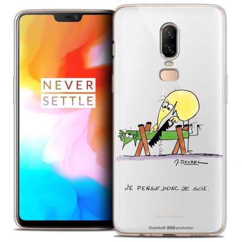 "Coque Gel OnePlus 6 (6.28"") Extra Fine Les Shadoks® - Je pense Donc"