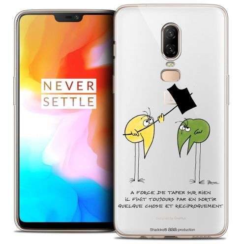 "Coque Gel OnePlus 6 (6.28"") Extra Fine Les Shadoks® - A Force"