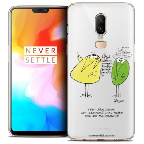 "Coque Gel OnePlus 6 (6.28"") Extra Fine Les Shadoks® - Le Dialogue"