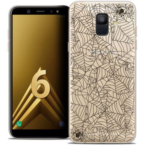 "Coque Crystal Gel Samsung Galaxy A6 2018 (5.45"") Extra Fine Halloween - Spooky Spider"