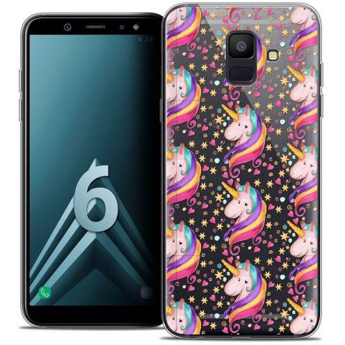 """Coque Crystal Gel Samsung Galaxy A6 2018 (5.45"""") Extra Fine Fantasia - Licorne Etoilée"""