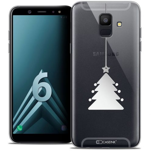 "Coque Crystal Gel Samsung Galaxy A6 2018 (5.45"") Extra Fine Noël 2017 - Petit Arbre"