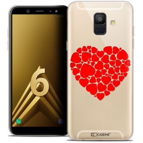 """Coque Crystal Gel Samsung Galaxy A6 2018 (5.45"""") Extra Fine Love - Coeur des Coeurs"""