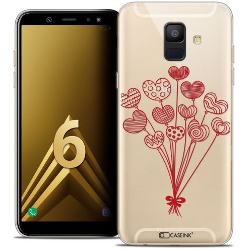 """Coque Crystal Gel Samsung Galaxy A6 2018 (5.45"""") Extra Fine Love - Ballons d'amour"""