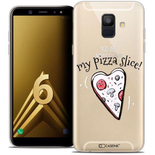 "Coque Crystal Gel Samsung Galaxy A6 2018 (5.45"") Extra Fine Love - My Pizza Slice"
