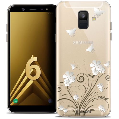 "Coque Crystal Gel Samsung Galaxy A6 2018 (5.45"") Extra Fine Summer - Papillons"