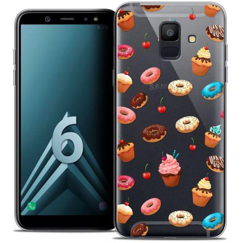 "Carcasa Crystal Gel Extra Fina Samsung Galaxy A6 2018 (5.45"") Foodie Donuts"