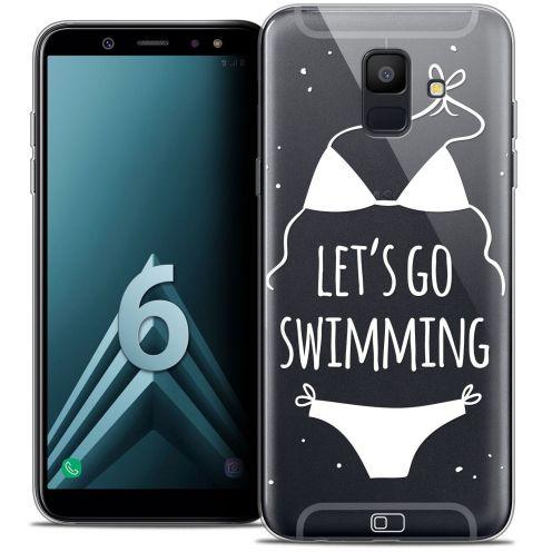 """Carcasa Crystal Gel Extra Fina Samsung Galaxy A6 2018 (5.45"""") Summer Let's Go Swim"""