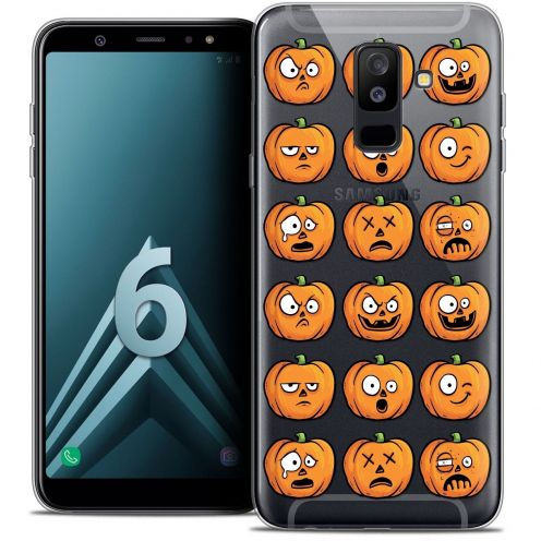 "Coque Crystal Gel Samsung Galaxy A6 PLUS 2018 (6"") Extra Fine Halloween - Cartoon Citrouille"