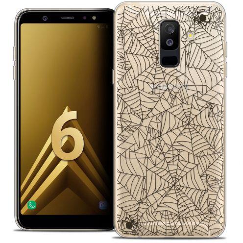 "Coque Crystal Gel Samsung Galaxy A6 PLUS 2018 (6"") Extra Fine Halloween - Spooky Spider"