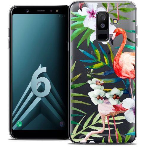 """Coque Crystal Gel Samsung Galaxy A6 PLUS 2018 (6"""") Extra Fine Watercolor - Tropical Flamingo"""