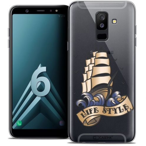 "Coque Crystal Gel Samsung Galaxy A6 PLUS 2018 (6"") Extra Fine Tatoo Lover - Life Style"