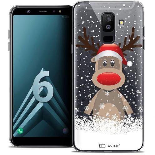 """Coque Crystal Gel Samsung Galaxy A6 PLUS 2018 (6"""") Extra Fine Noël 2017 - Cerf au Bonnet"""